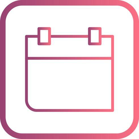 Ícone de vetor de calendário