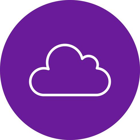 Icône de vecteur de nuage