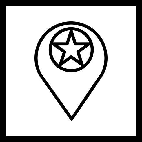 Vector Starred Location Icon