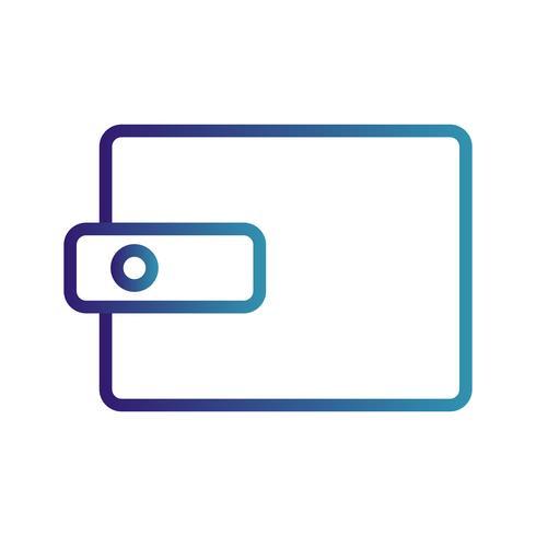 Ícone de carteira de vetor