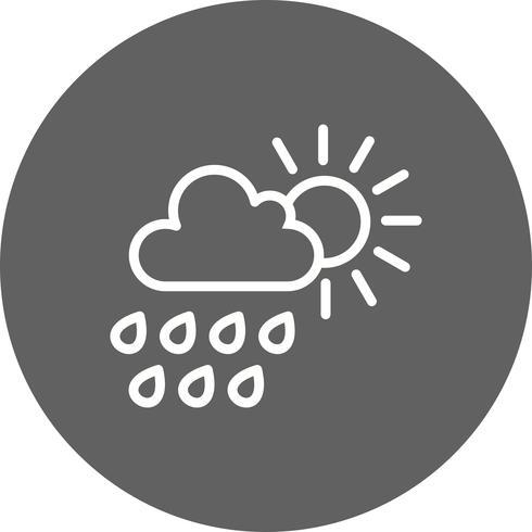 sommar regn vektor ikon
