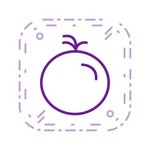 Ícone de tomate de vetor