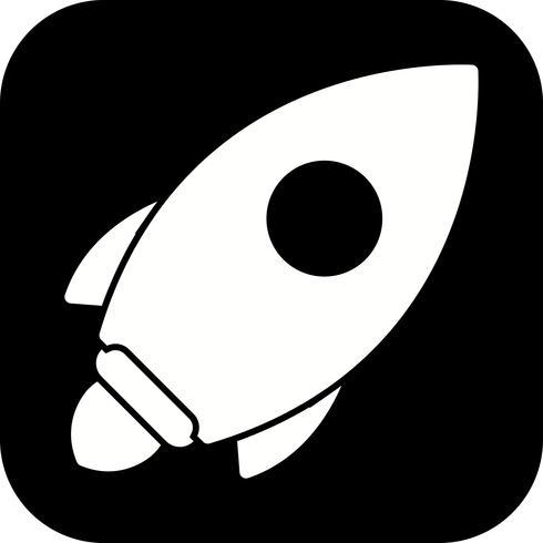 Ícone de lançamento do vetor