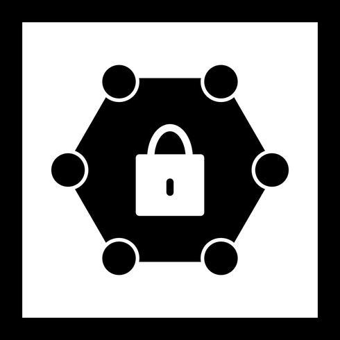 Icona di rete protetta vettoriale