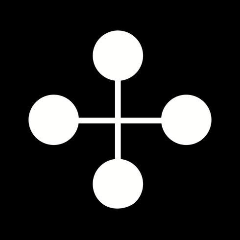 Ícone de edifício de ligação de vetor