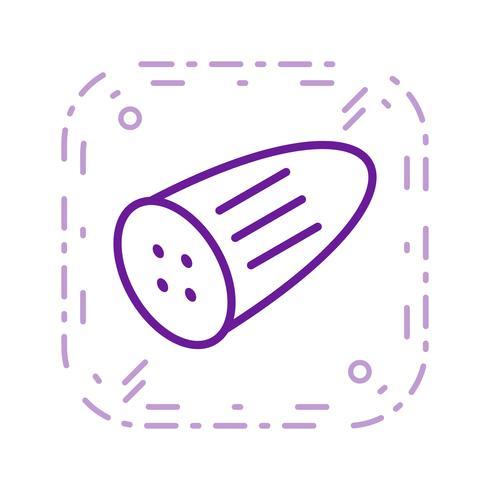 Vector pepino ícone