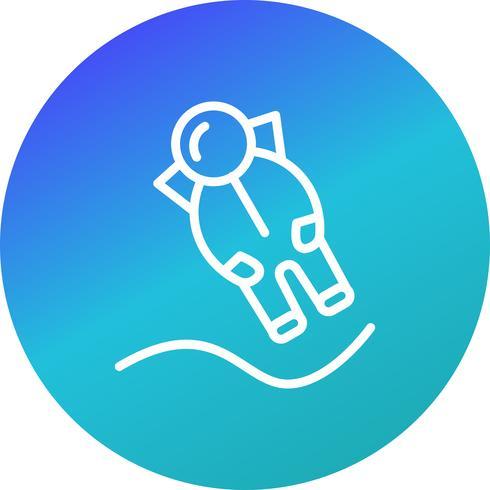 icono de vector de aterrizaje de astronout