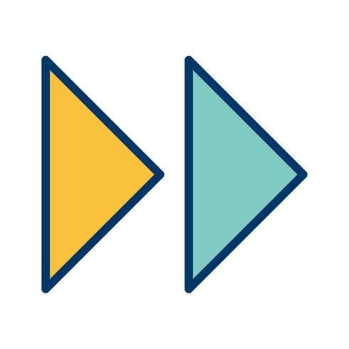 Vektor framåtpilar ikon