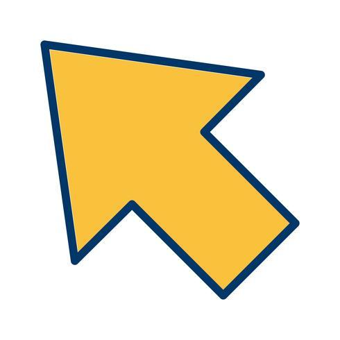 Vektor-Cursor-Symbol vektor