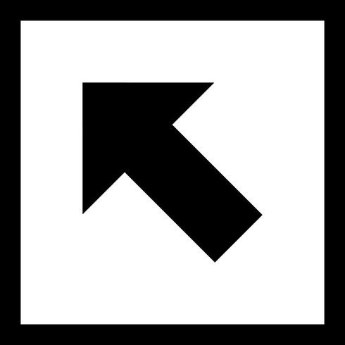 Left Up Vector Icon