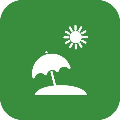 Ícone de vetor de guarda-chuva de praia