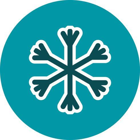 Ícone de vetor de neve