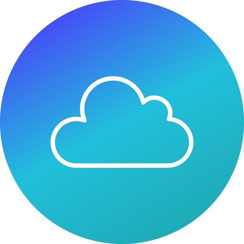 Ícone de vetor de nuvem