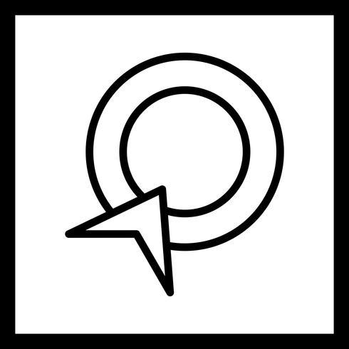 Vector de pago por clic en el icono