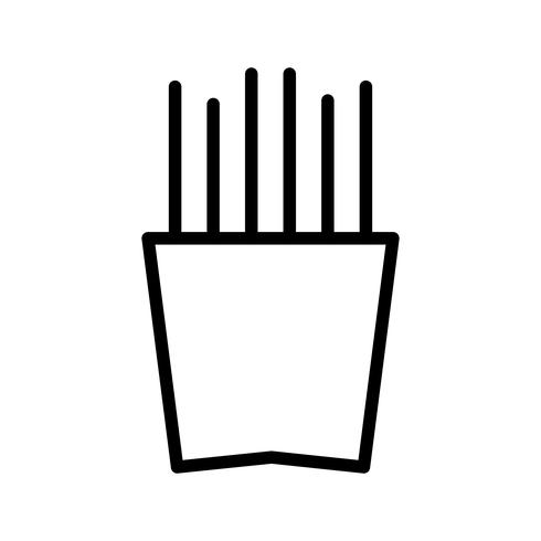 Vektor-Pommes-Frites-Symbol