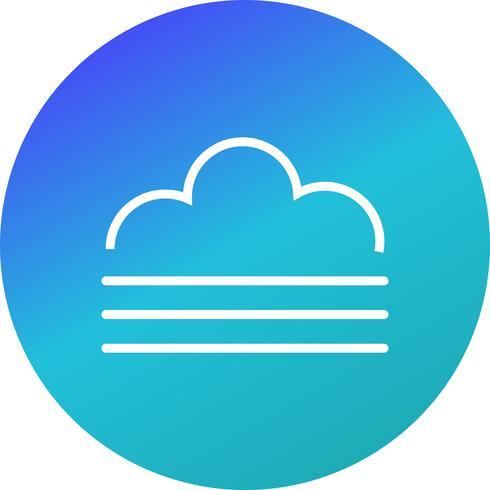 Ícone de vetor de nevoeiro