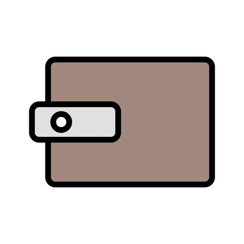 Vector portemonnee pictogram
