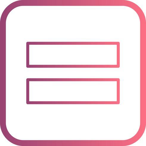 Gelijk aan Vector-pictogram