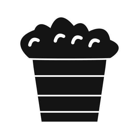 Icona di popcorn vettoriale