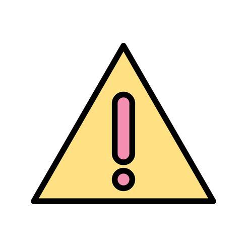 Waarschuwingsbord Vector Icon