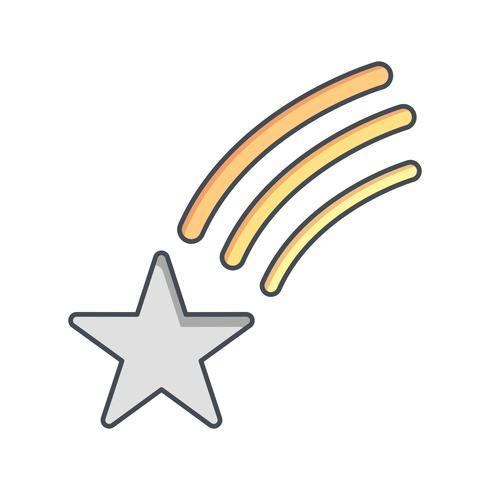 Ícone de vetor de estrela cadente