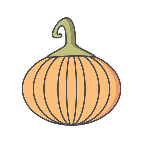 Vector icono de calabaza