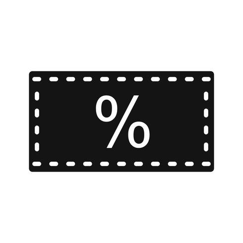 Icône Vector Discount