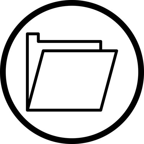 Vektormapp Ikon
