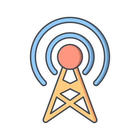 Ícone de vetor de transmissão
