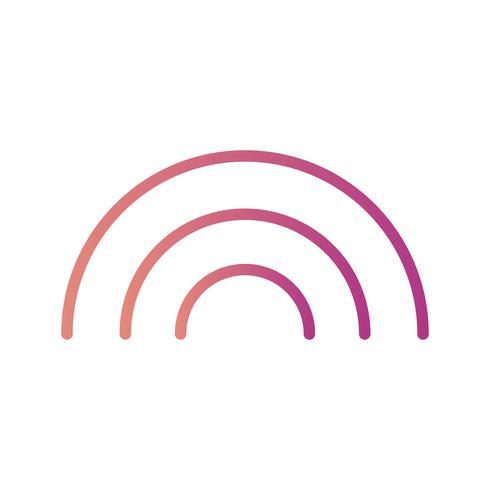 Regenbogen-Vektor-Symbol