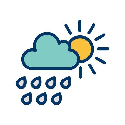 Zomerregen Vector Icon