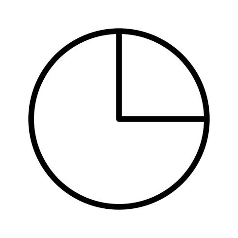 Ícone de gráfico de pizza de vetor