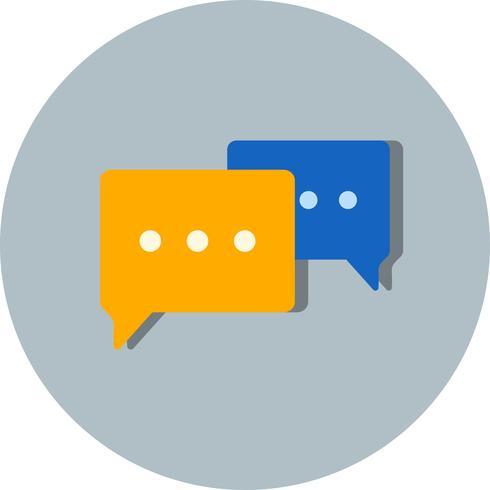 Ícone de conversa de vetor