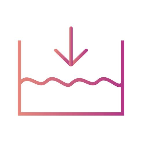 Onder zeeniveau Vector pictogram
