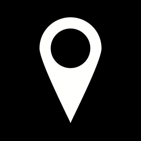 Icono de vector de ubicación