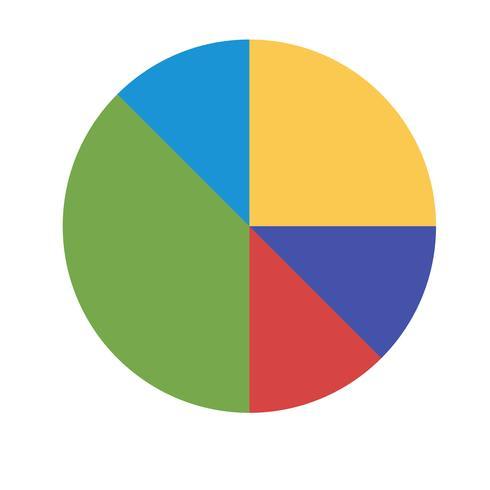 Vektor cirkel diagram ikon