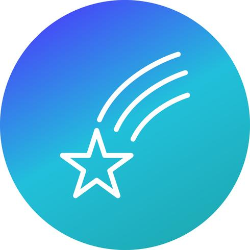 Falling Star Vector Icon
