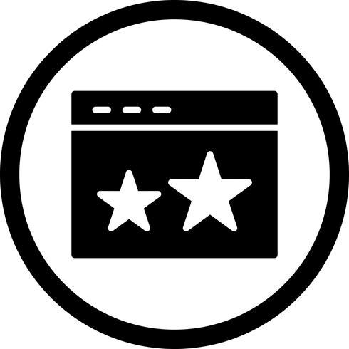 Icona stellata di vettore