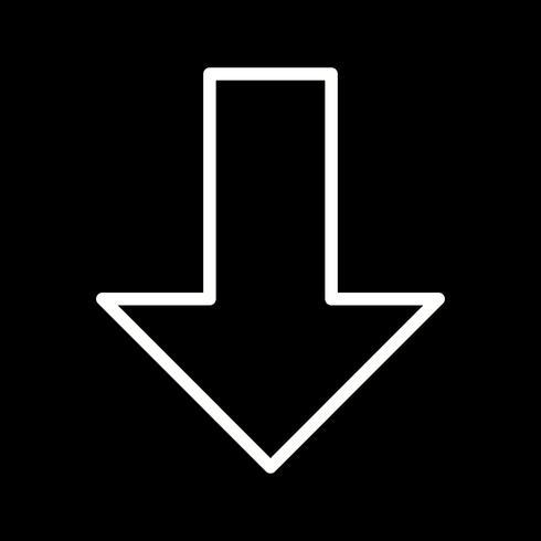 Ner vektor ikon