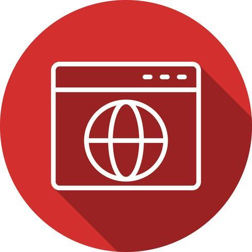 Ícone do navegador de vetor