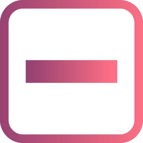 Minus Vector Icon