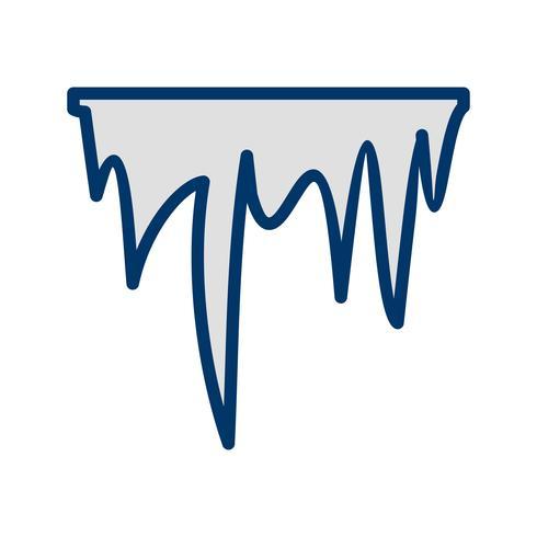 Eiszapfen-Vektor-Symbol