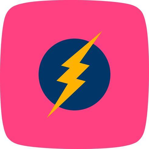 Icona di vettore di scosse elettriche