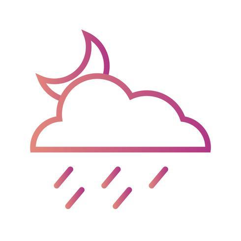 Night Rain Vector Icon