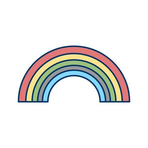 regnbåge vektorikonen
