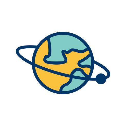 Umlaufbahn um die Erdvektorikone
