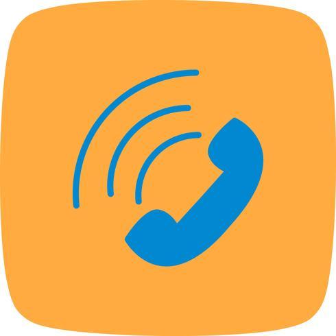 Vector icono de llamada activa