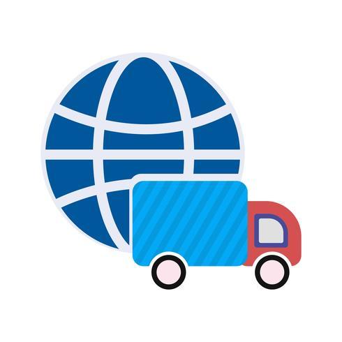Icona di consegna globale vettoriale