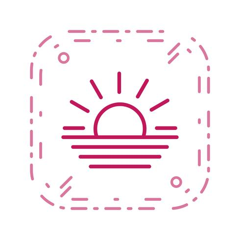 Sonnenuntergang-Vektor-Symbol