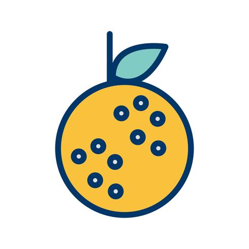 Vector icono naranja